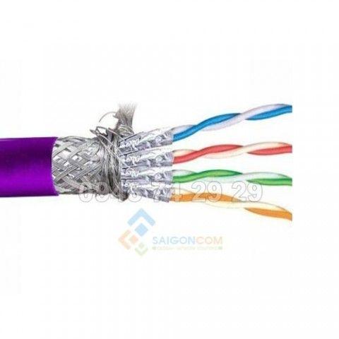Cáp mạng VIVANCO CAT.6A S/FTP (LSZH, Purple) cuộn 305m màu tím