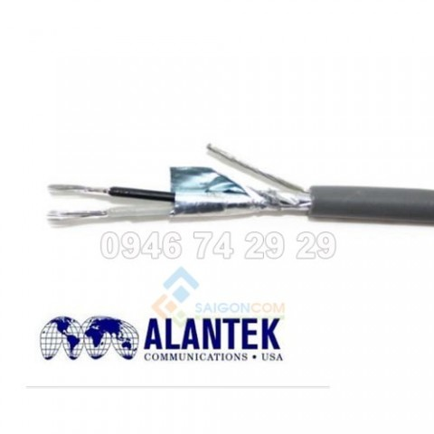 Cáp tín hiệu Alantek 16 AWG- 1 pair  Tinned Copper Drain Wire and Outer PVC Jacket, cuộn 305m