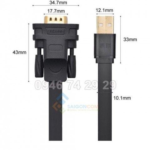 Cáp USB sang Com ( Ugreen 20223)