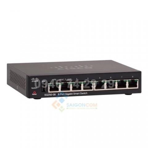 Switch Cisco SG250-08 10/100/1000