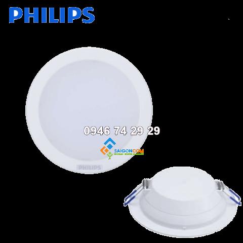 Đèn âm trần đế mỏng 7W Philips