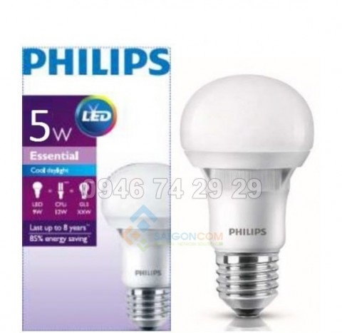 Đèn led tròn Essential 5W Philips