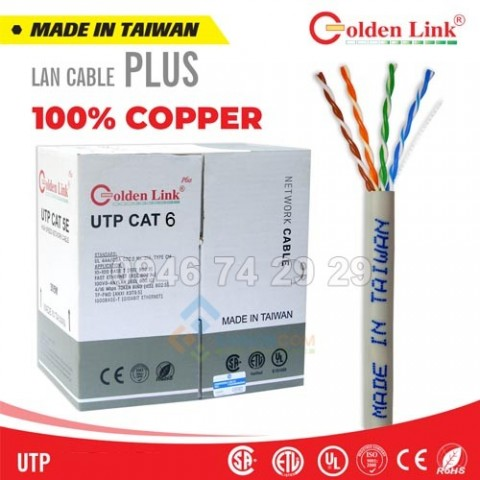 Dây cáp mạng Golden link UTP CAT6 đồng nguyên chất