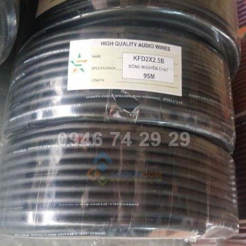 Giây âm thanh 2x2.5mm KFD2X2.5B đồng nguyên chất