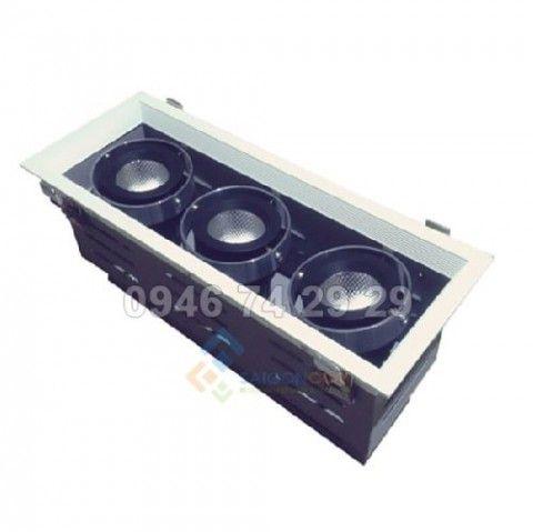 Đèn âm trần 3x10W mẫu H Vinaled