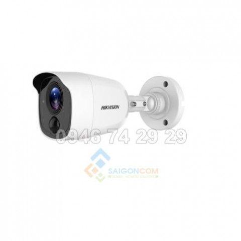 Camera thân ống Hikvision DS-2CE12D8T-PIRL HDTVI 2.0MP hồng ngoại 20m siêu nhạy sáng, đèn led báo động