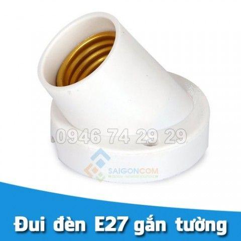 Đuôi đèn nghiêng gắn tường E27