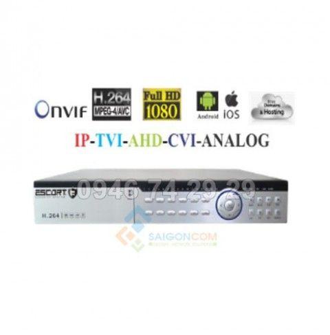 Đầu ghi hình Escort 32 kênh 5 in 1 xuất hình 4K/ Full HD 1080P ESC-6832