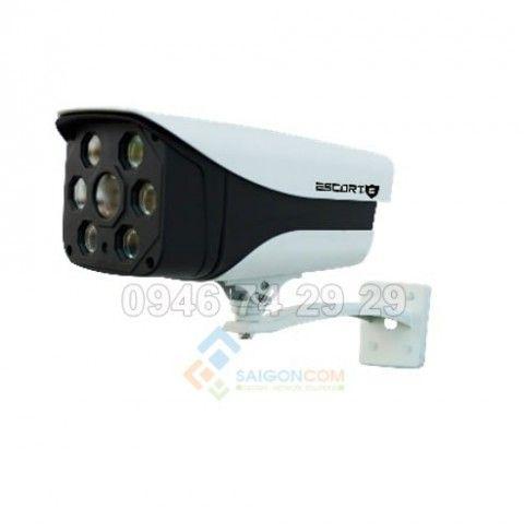 Camera Escort HD-TVI ngoài trời, thân hồng ngoại Led ARRAY (Vỏ Sắt ) ESC-802TVI 1.3M.p]