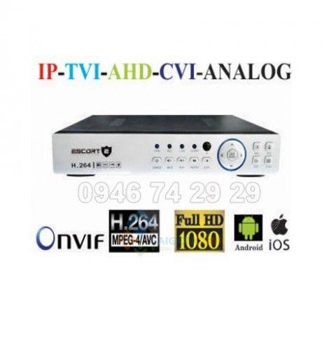 Đầu ghi hình Escort 8 kênh 5 in 1 xuất hình Full HD 1080P ESC-P6808