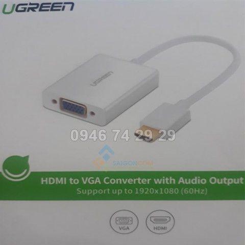 Cáp chuyển đổi Mini Hdmi sang VGA và Audio Cao cấp Ugreen UG-40212