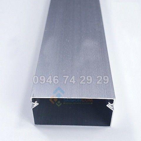 Nẹp vuông kim loại nhôm  4P (40x20) - Cây/1m