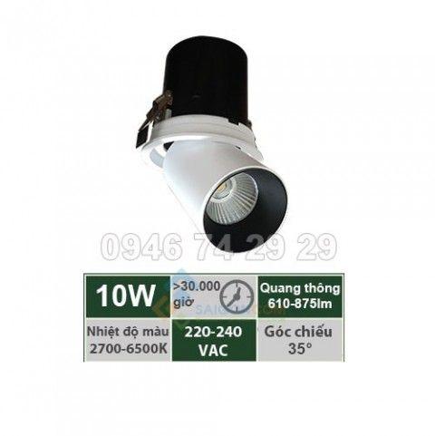 Đèn ray âm trần 10W mẫu P Vinaled