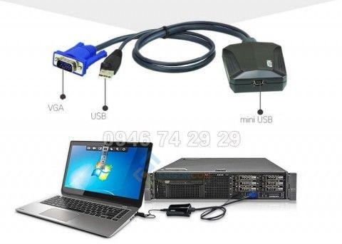 Bộ chuyển đổi CV211  VGA Kết nối màn hình qua cổng USB