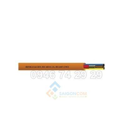 Cáp chống cháy benka 2C x 1,5 mm2, 600/1000V