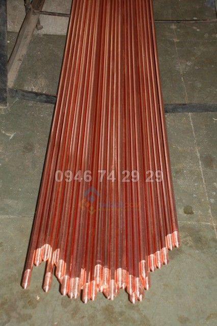 Cọc thép mạ đồng D16, dài 2.4m