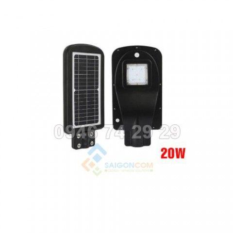 Đèn năng lượng mặt trời 20W - chiếu sáng 12-15h - 20m2