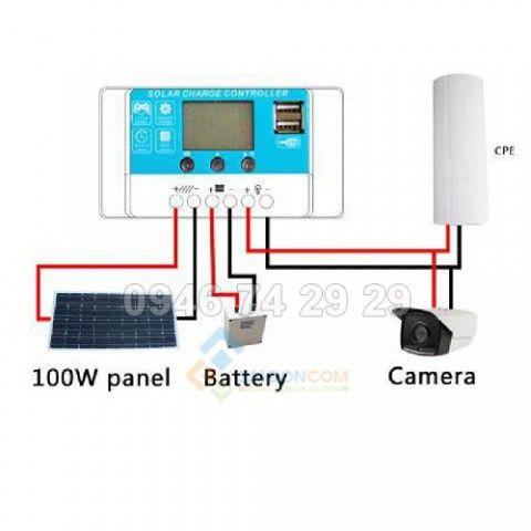 Bộ PIN năng lượng mặt trời cấp cho camera
