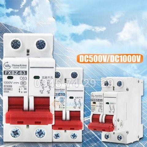 Bộ ngắt mạch MCB DC 2P 500V 20A cho năng lượng mặt trời