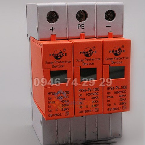 Thiết bị chống sét dòng DC 3 pha FRANGKE HYS4-PV-1000VDC Imax 40KA