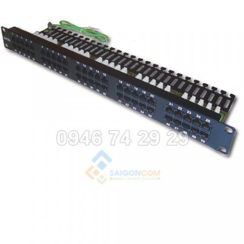 Patch panel for Telephone 50 port Dintek 19 inch