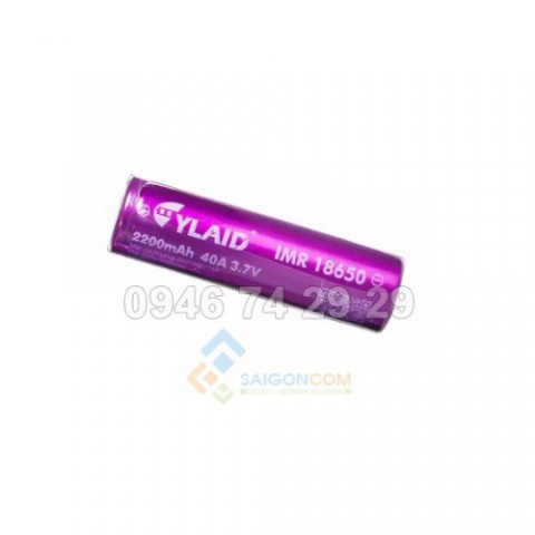 cell pin cylaid 2200mah 40a 3,7V