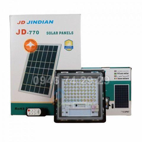 Đèn pha năng lượng mặt trời 40W JD-740 độ màu 6500k