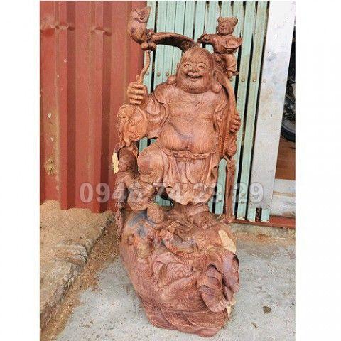 Tượng Phật Di Lạc, gỗ cẩm 62x26x30
