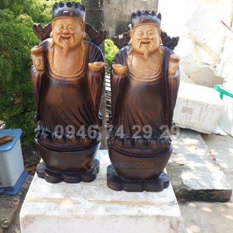 Cạp tượng thần tài đến nhà, gỗ trắc 27 x26 x18 cm