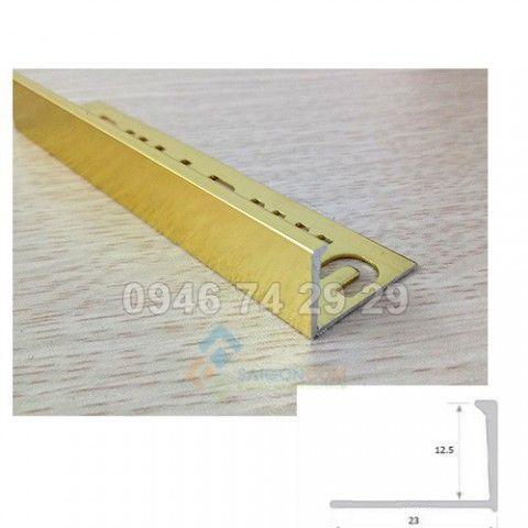 Nẹp cuối HTI12 Inox,  vàng bóng thanh dài 2,5m2
