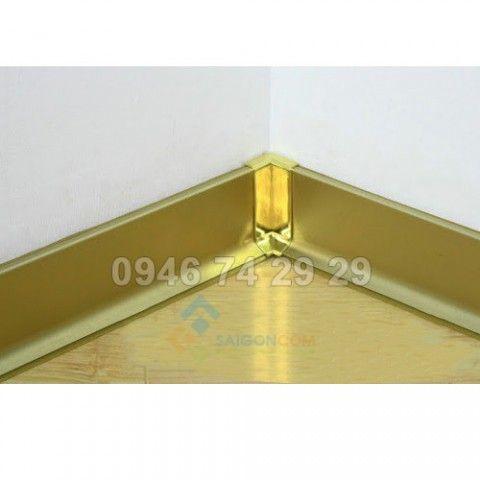 Nẹp chỉ len tường Nhôm,  vàng mờ thanh dài 2,7m2
