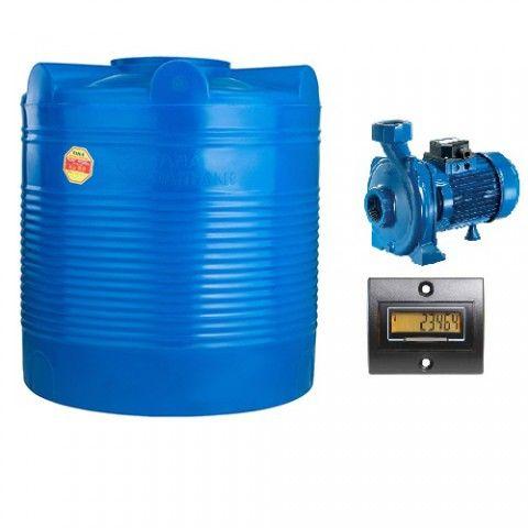 Bồn chưa nước và cảm biến lưu lượng nước bơm  vào máy trộn
