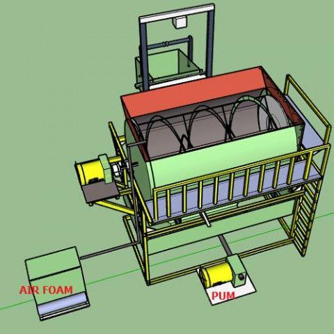 Dây chuyền  sản xuất  tấm panel bê tông nhẹ 5m3/ngày