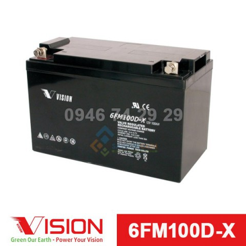 Ắc quy VISION 6FM100D-X (12V-100Ah)