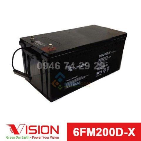 Ắc quy VISION 6FM200D-X (12V-200Ah)