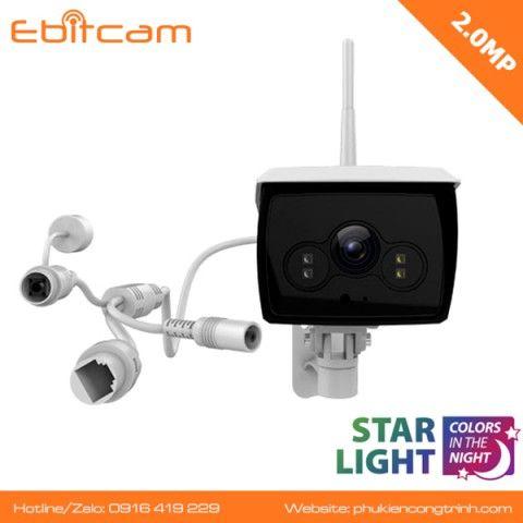 Camera wifi  ngoài trời Ebitcam EBO2-2MP - Ban đêm có màu