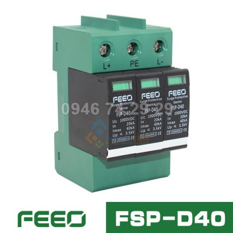 Chống sét DC FEEO 3P 1000VDC | FSD-D40