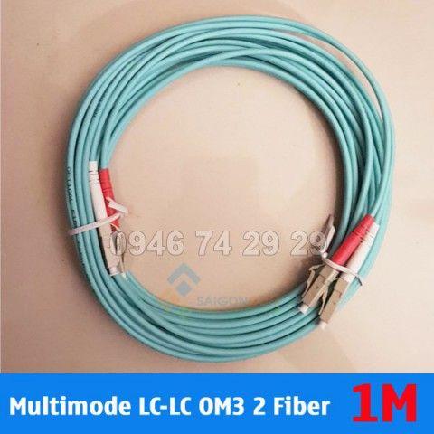 Dây nhảy quang Multimode OM3 LC-LC 2 Fiber 1m