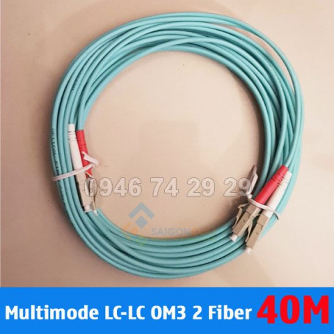Dây nhảy quang Multimode OM3 LC-LC 2 Fiber 40m