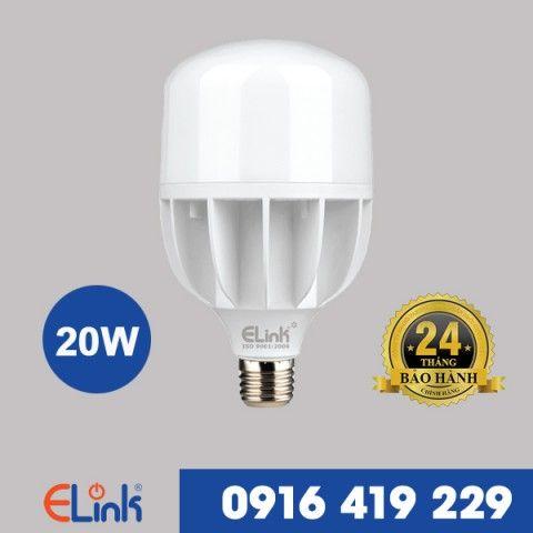 Bóng Đèn LED Bulb trụ nhựa ELINK 20W  ánh sáng trắng   EBTN-20T