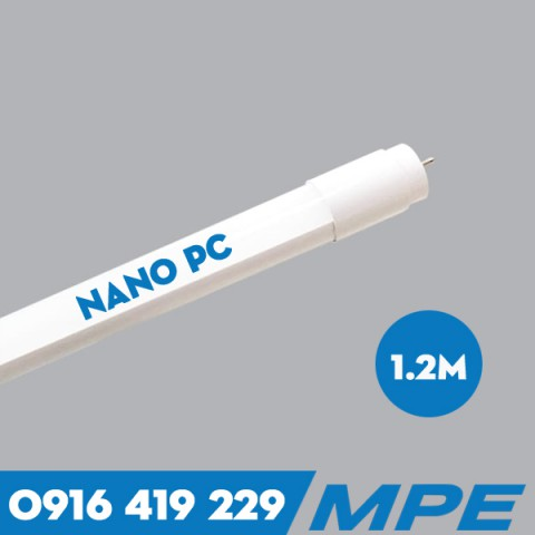 Bóng Đèn LED tuýp T8 Nano PC - 18W - 1m2 MPE NT8-120T/V