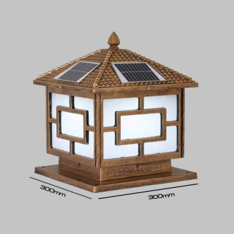 Đèn trụ cổng năng lượng mặt trời 300x300x300mm (3W)