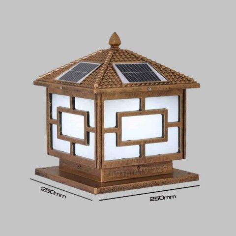 Đèn trụ cổng năng lượng mặt trời 250x250x300mm (2.5W)