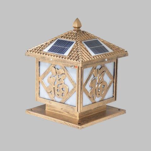 Đèn trụ cổng năng lượng mặt trời NP251 (25x20x30cm)