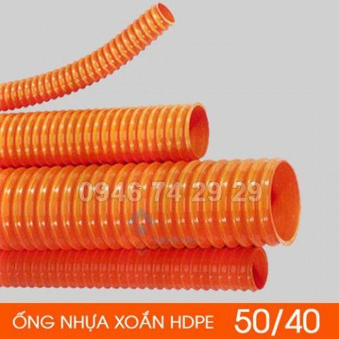 Ống nhựa HDPE gân xoắn chịu lực  50/40