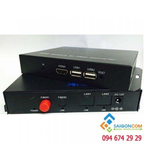 Bộ chuyển đổi HDMI sang quang - HDMI Fiber Converter FC - HDMI -USB IN - USB OUT khoảng cách 0~20KM