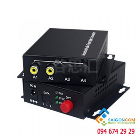 Bộ chuyển đổi AUDIO - QUANG - AUDIO Fiber Converter  khoảng cách 0~20KM