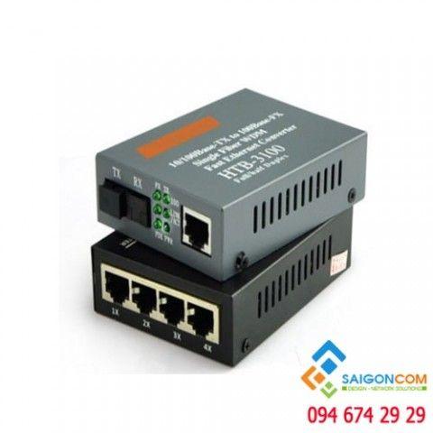 Bộ chuyển đổi quang điện 10/100M, 4 cổng LAN UTP