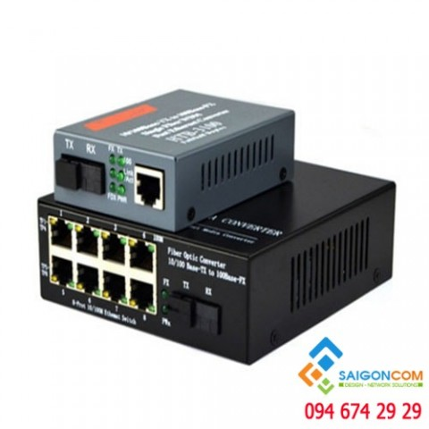 Bộ chuyển đổi quang điện 10/100M, 8 cổng LAN UTP