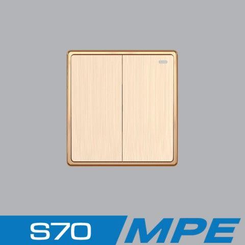 Bộ 2 công tắc 1 chiều 16A - 250V MPE S702